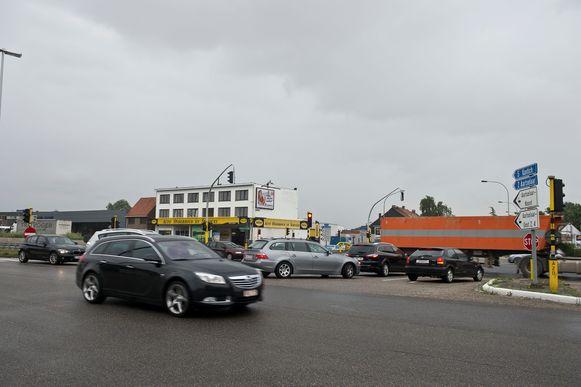 Het kruispunt aan de Kontichsesteenweg.