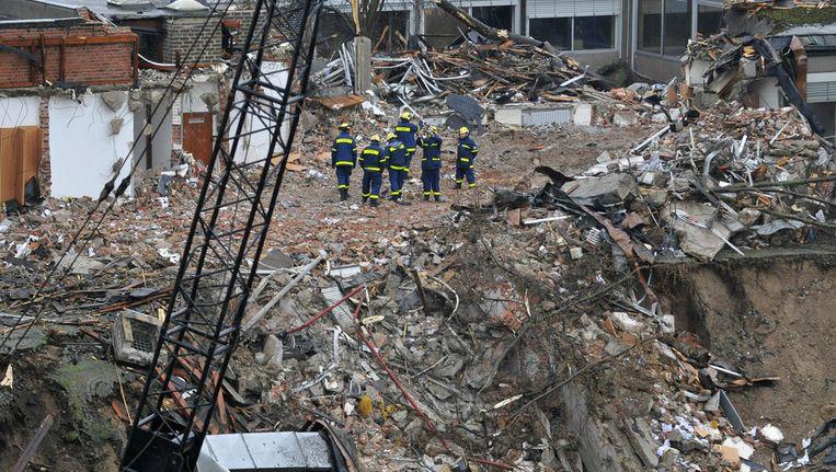 Het ingestorte stadsarchief van Keulen Beeld AFP