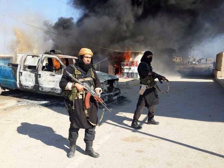 Archieffoto van IS-strijders in de provincie Anbar