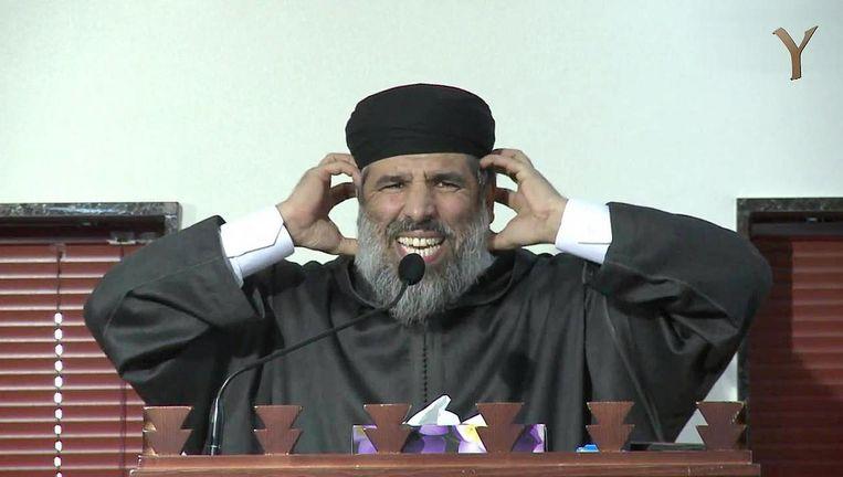 Rachid Nafi, salafistische imam, preekte in de As-Soennahmoskee Beeld YouTube