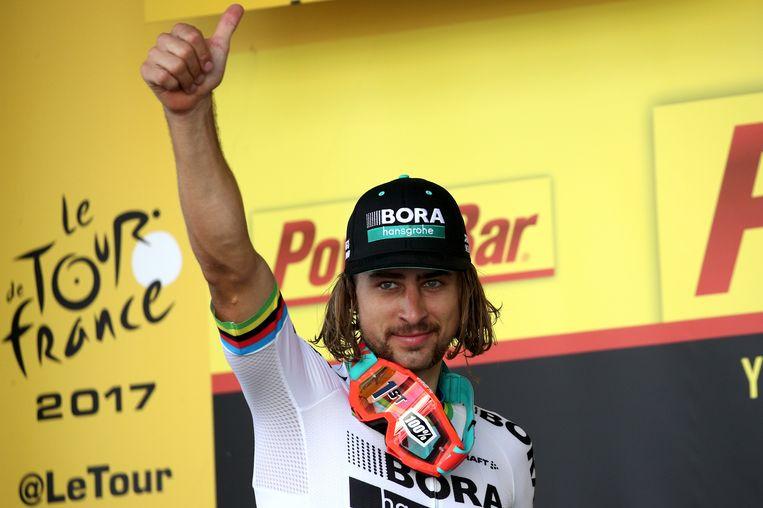 Peter Sagan na zijn winst Beeld getty