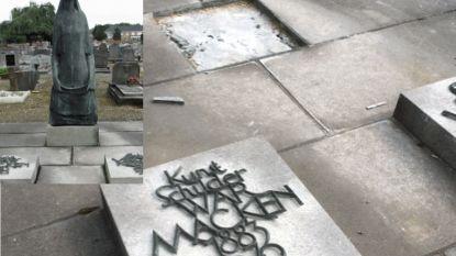 Beeld 'Rouwende moeder' op graf van  Diestse schilder War Macken gestolen