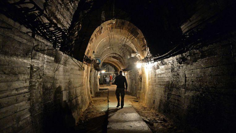 De ondergrondse constructie in Walbrzych, waar de nazitrein vol goud verborgen zou zijn in een geheime tunnel Beeld afp
