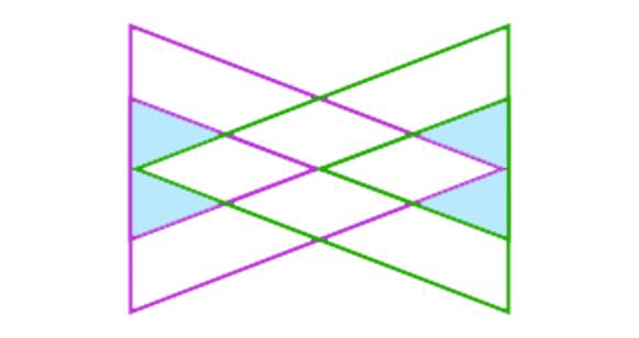 Hier zijn al vier kleine driehoekjes aangeduid.