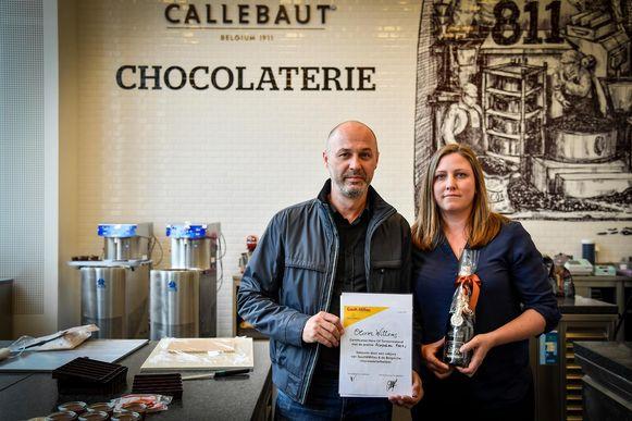 Chocolatier Olivier Willems, hier met Inge Richir, kon de jury het meest bekoren.