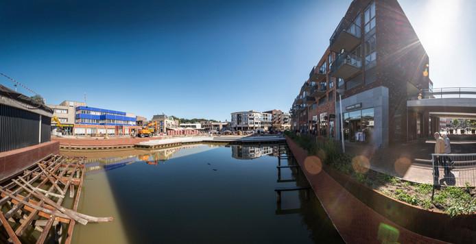 De nieuwe havenkom in Almelo.