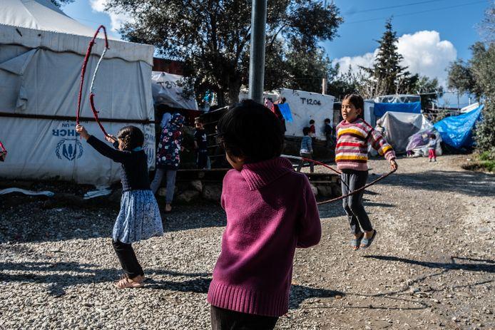 Lesbos, Griekenland: duizenden migranten en vluchtelingen zitten vast op het Griekse eiland.