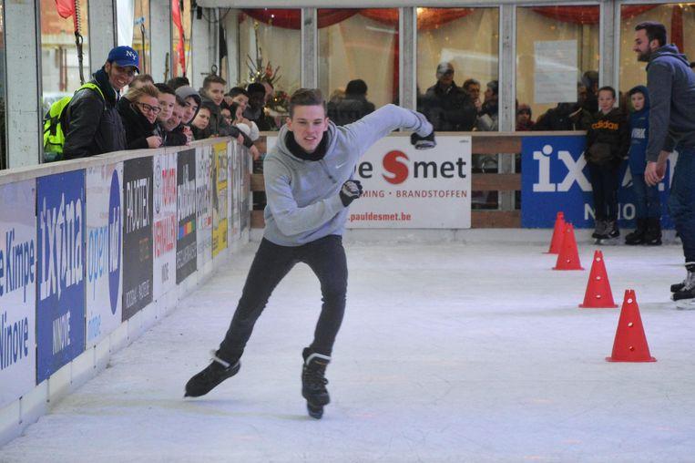 Kenzo was de snelste op het ijs.