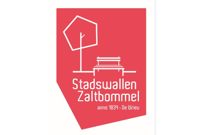 Het logo waarmee de gemeente Zaltbommel de herkenbaarheid, bekendheid, toeristische aantrekkelijkheid en identiteit van de stadswallen wil vergroten.