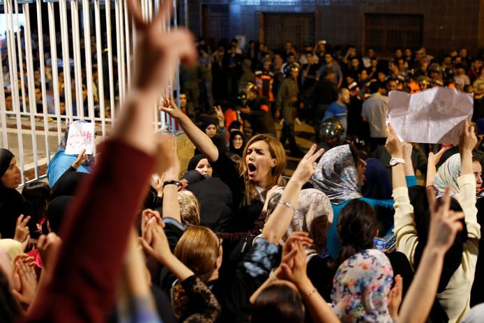 Nawal Benaissa van de protestbeweging Al-Hirak Al-Shaabi.