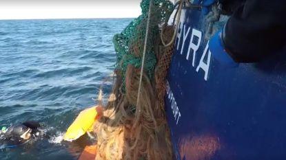 Al 4 ton afval verwijderd bij scheepswrak West-Hinder