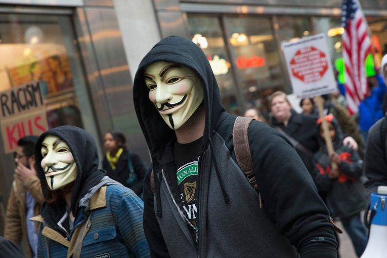Protestmars in Chicago. Beeld afp