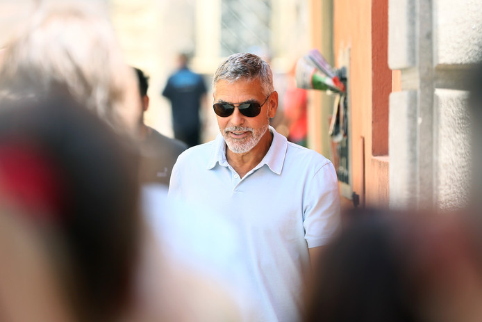 George Clooney op de set van Catch22 op 20 juli.