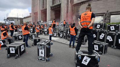 'Vergeten' eventsector voert actie Slagveld van 1.000 flightcases
