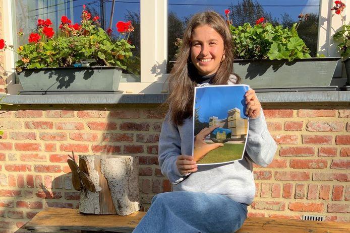 De zeventienjarige Nele Vuylsteke won de wedstrijd #kasteelinbeeld