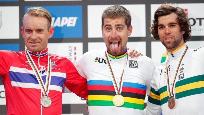 Sagan zorgt voor unieke prestatie op WK: derde wereldtitel op rij