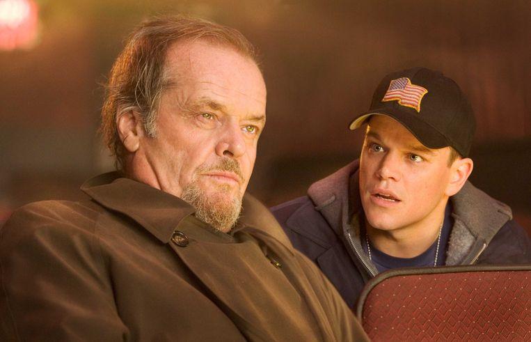 Jack Nicholson en Matt Damon in 'The Departed'
