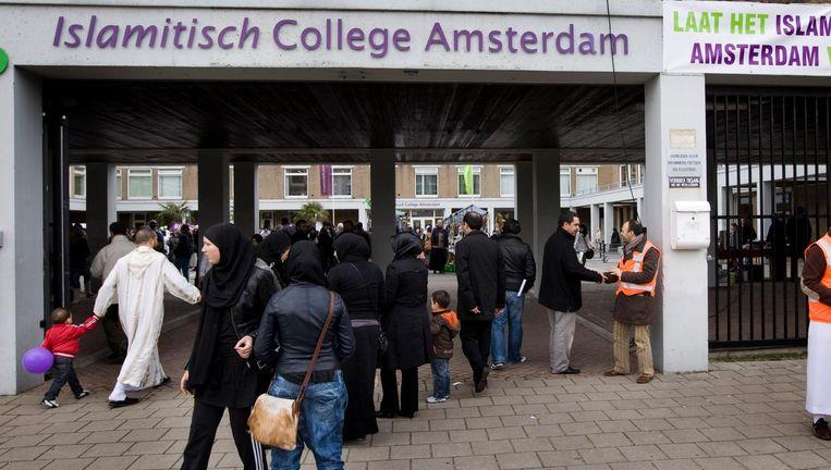 Het Islamitisch College Amsterdam in Slotervaart dat in 2010 de deuren sloot Beeld anp