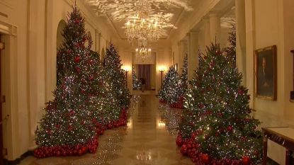 Witte huis al volledig in kerstsfeer