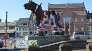 Lappendeken en sjaal houden Paard Prins warm