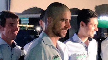 Peter Sagan verschijnt met verrassende haarcoupe op teamfeestje Bora-Hansgrohe