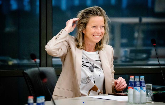 Archiefbeeld: minister Kajsa Ollongren van Binnenlandse Zaken en Koninkrijksrelaties (D66) tijdens een wetgevingsoverleg .