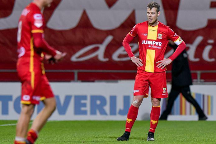 Jeroen Veldmate is zwaar teleurgesteld bij  Go Ahead Eagles