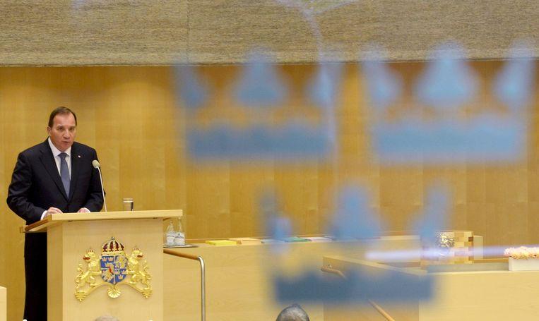 De nieuwe Zweedse minister-president Stefan Lofven Beeld ap