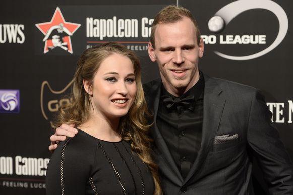 Matz Sels met zijn vriendin Jolien Sysmans.