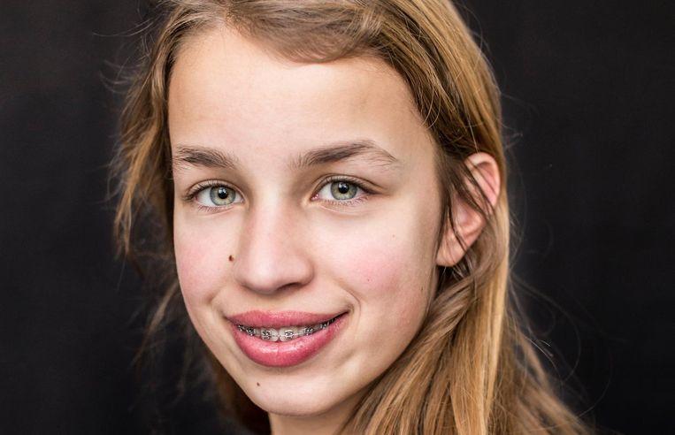 Fay Oelrich: 'Ik twijfelde wel over het gymnasium, want ik ben bang dat ik dan ga zakken' Beeld Eva Plevier