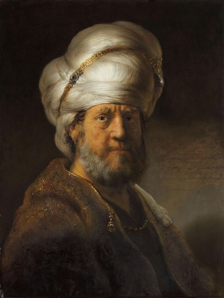 Man in Oosterse kleding Beeld Rijksmuseum