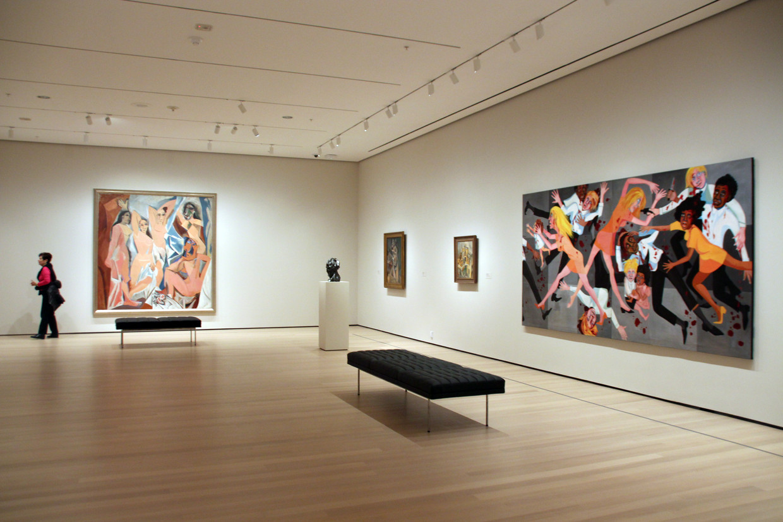 De zaal in het verniewde Moma waar Picasso naast Faith Ringgold hangt. Beeld DPA