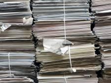 Oud papier ophalen voorlopig gestaakt in Cranendonck