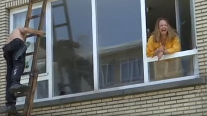 """Ouders doen jarige dochter ruitenwasser in bloot bovenlijf cadeau: """"Buiten Marc Van Ranst, heeft ze geen mannen meer gezien"""""""