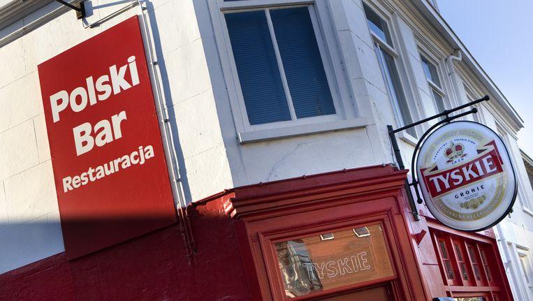 © ANP. Bar voor Polen aan de Brouwersgracht in Haarlem. Beeld null