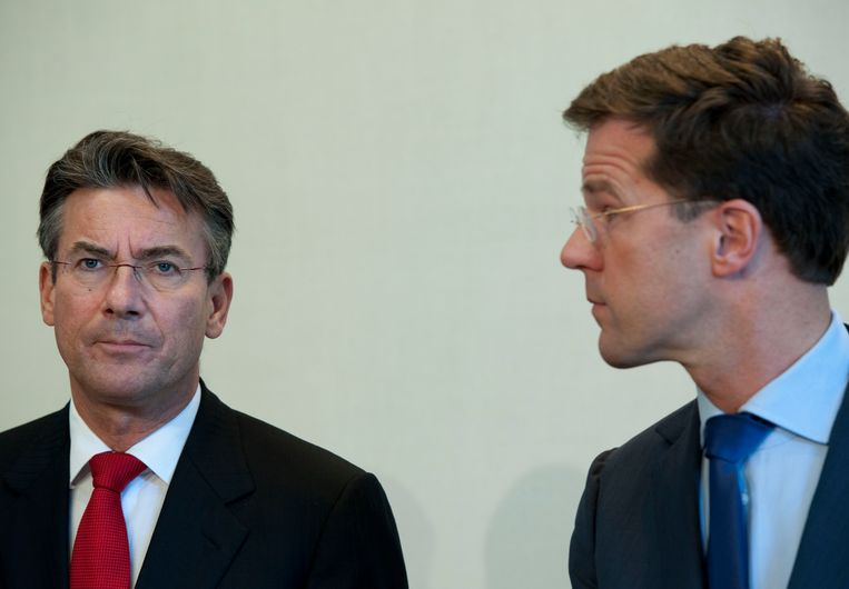 Maxime Verhagen met Rutte in 2012.  Beeld ANP