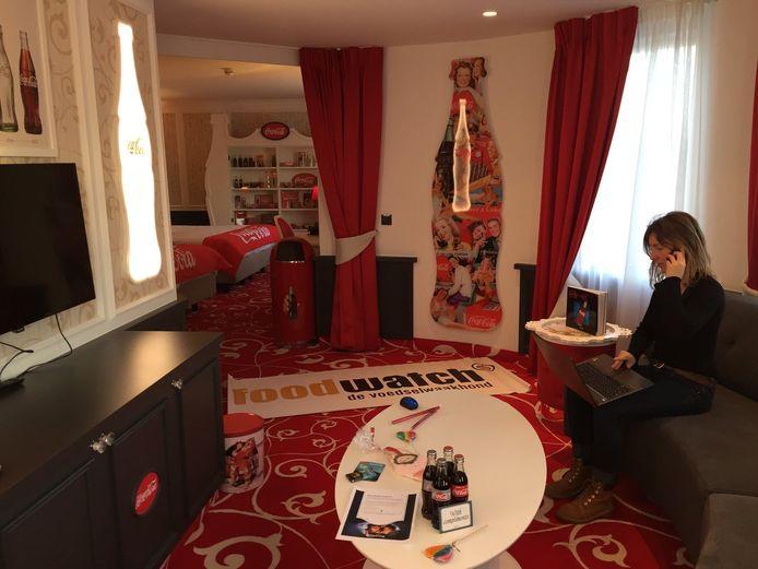 Foodwatch-medewerkster Elif Stepman in de Coca-Cola Suite