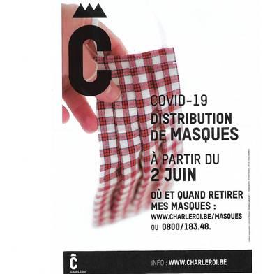Téléphone hors service, page web inexistante… La saga des masques continue à Charleroi