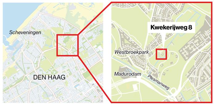 De stadskwekerij ligt tussen het Westbroekpark en Klein Zwitserland.