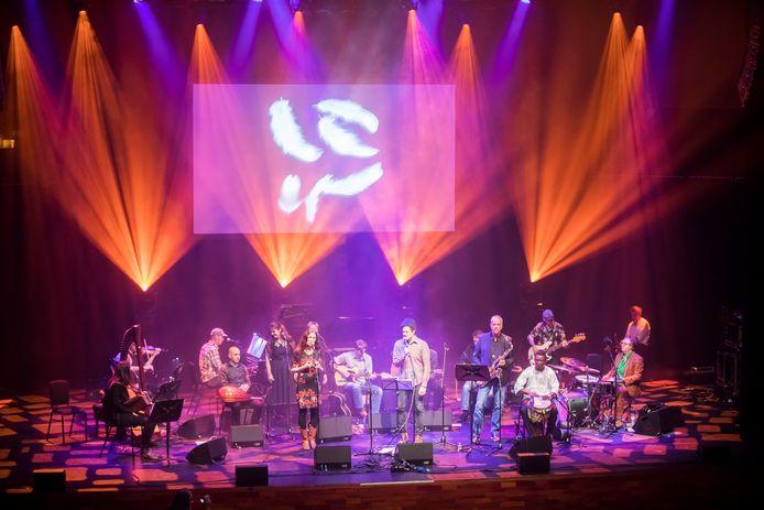 Een twintigtal muzikanten en vocalisten bracht zaterdag tijdens het Naked Song-festival een eerbetoon aan grondlegger Ad van Meurs.