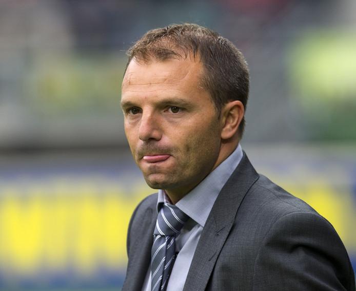 Maurice Steijn als trainer van ADO in 2011.