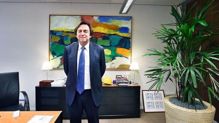 Voor het derde jaar op rij is Hans Wijers de invloedrijkste Nederlander. Beeld Guus Dubbelman / de Volkskrant