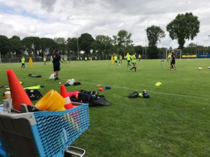 Training van het Zweedse dameselftal donderdag in Zevenaar.