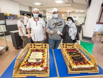 """Bakkers Mo en Abdel schenken taarten aan AZ Sint-Maria: """"En wie het moeilijk heeft kan op gratis brood rekenen"""""""