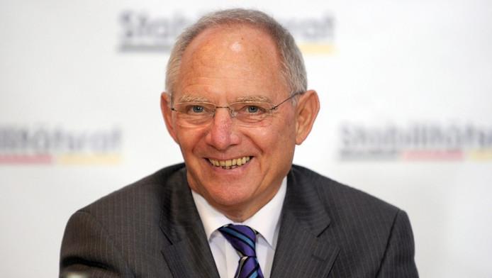 Wolfgang Schäuble, de Duitse minister van Financiën.