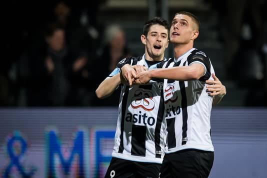 Adrián Dalmau en Kristoffer Peterson, vorig seizoen succesvol bij Heracles Almelo, dit seizoen bij FC Utrecht?