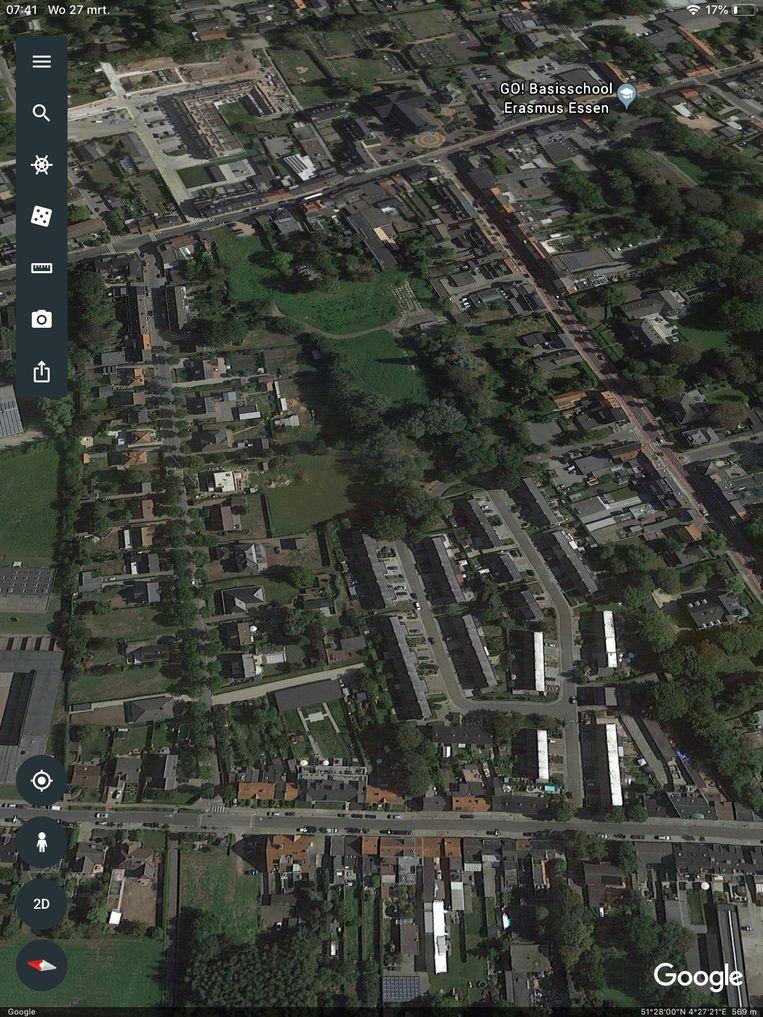 De site van Ipsam ligt tussen de Guido Gezellelaan, Stationsstraat en Nieuwstraat.