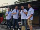 De SRV-mannen van Oisterwijk (van links naar rechts): Roger ter Horst, Maurice van den Hurk, Roel van Beckhoven en Luc Zweerts.