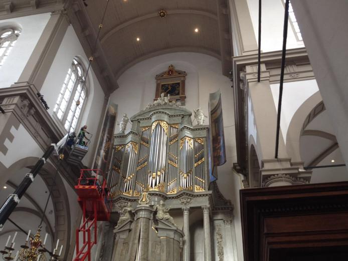 Het orgel in de Westerkerk in Amsterdam