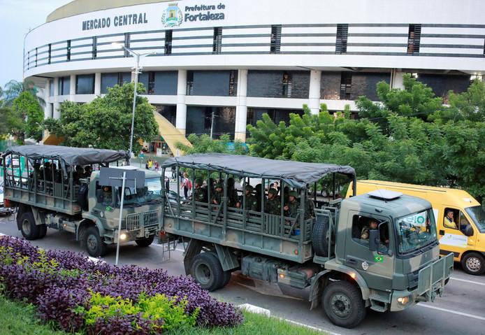 De eerste legertroepen zijn ook gearriveerd in Fortaleza.